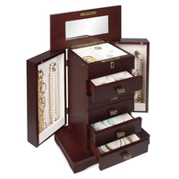 Best Choice Products Handcrafted Wooden Tabletop Jewelry Armoire