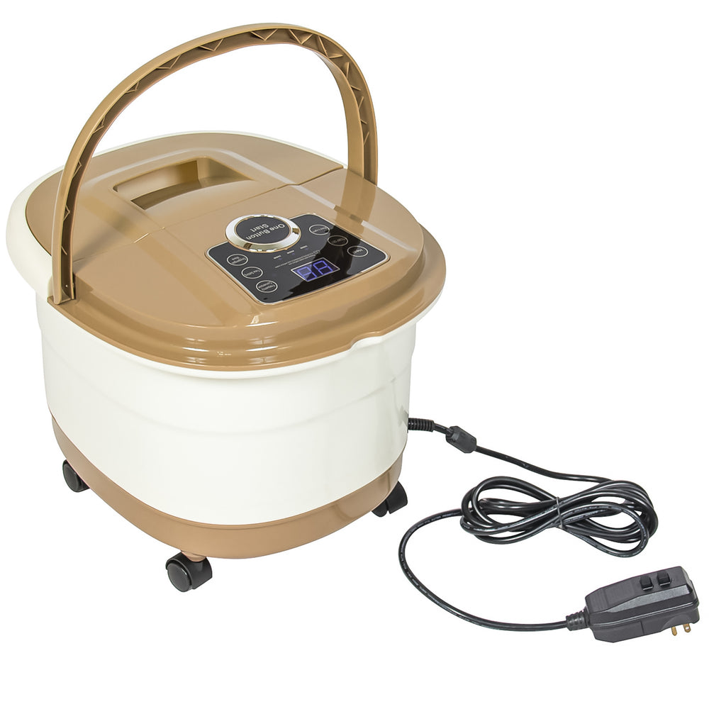 Portable Foot Spa Bath Massager - Tan – Best Choice Products