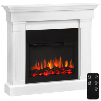 Best Choice Products 4700 BTU Wood Mantel Electric Fireplace W/ Remote Control, Mounting Brackets Included