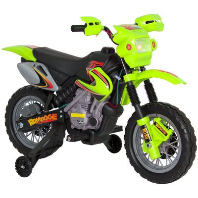 Best Choice Products Kids 6V Electric Ride On Motorcycle Dirt Bike W/ Training Wheels