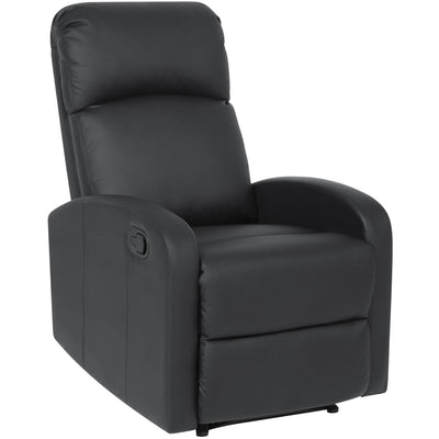 Best Choice Products Home Furniture PU Leather Recliner Chair- Black