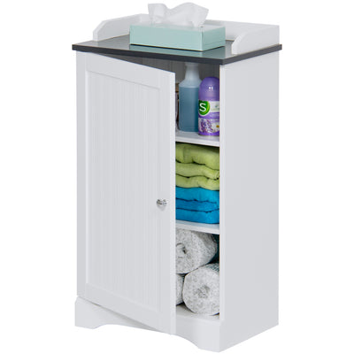 Best Choice Products Bathroom Floor Cabinet Storage- White