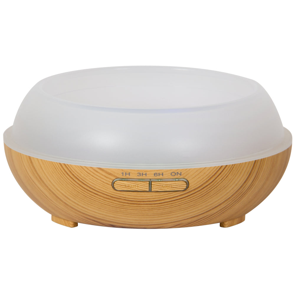 300mL Essential Oil Diffuser and Humidifier w/ Mood LED Lights - Brown