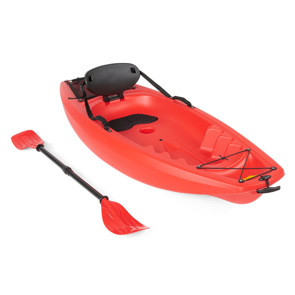 Best Choice Products 6' Kids Kayak With Paddle And Backrest - Yellow
