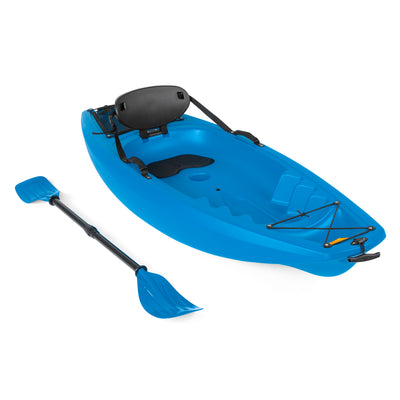 Best Choice Products 6' Kids Kayak With Paddle And Backrest- Blue
