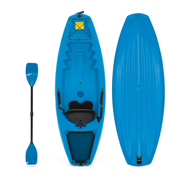 Best Choice Products 6' Kids Kayak With Paddle And Backrest - Blue