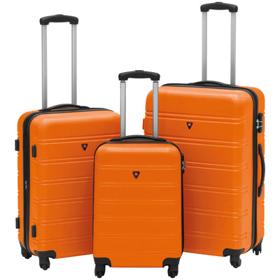 Best Choice Products Hardshell 3 Piece Expandable Spinner Luggage Set - Red