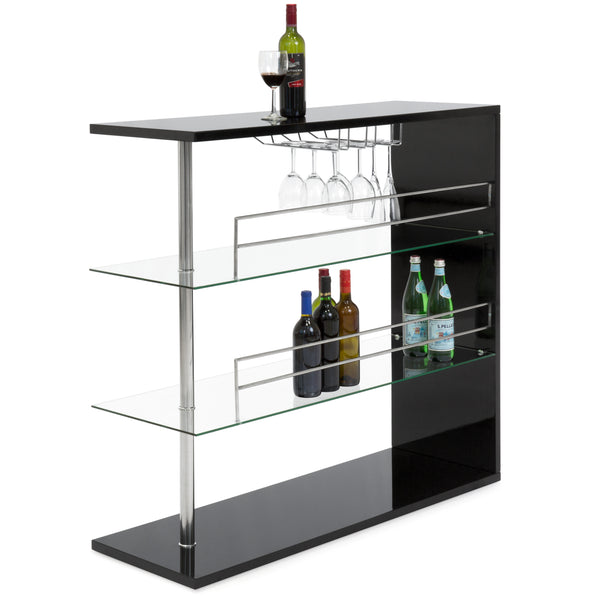 3-Tier Tempered Glass Bar Table
