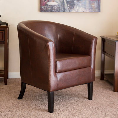 Best Choice Products Home Furniture Arm Club Chair- Brown