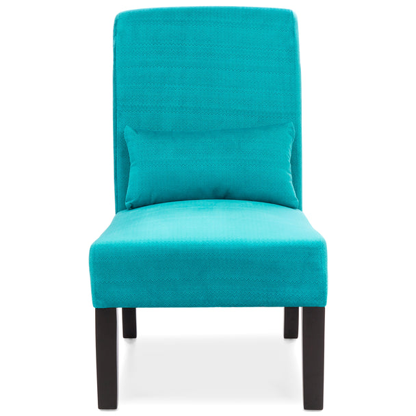 Fabric Armless Accent Chair Teal Best Choice Products