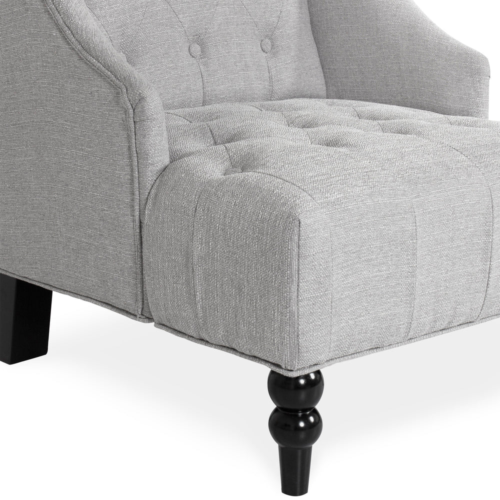 Tall Wingback Tufted Accent Chair   Gray