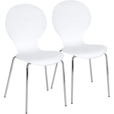 Best Choice Products Home Furniture Dining Bistro Set of 2 Bentwood Chairs- White