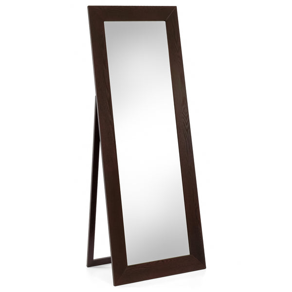 Best Choice Products Large Transitional Full-Length Floor Mirror W/ Built-In Stand (Cappuccino)