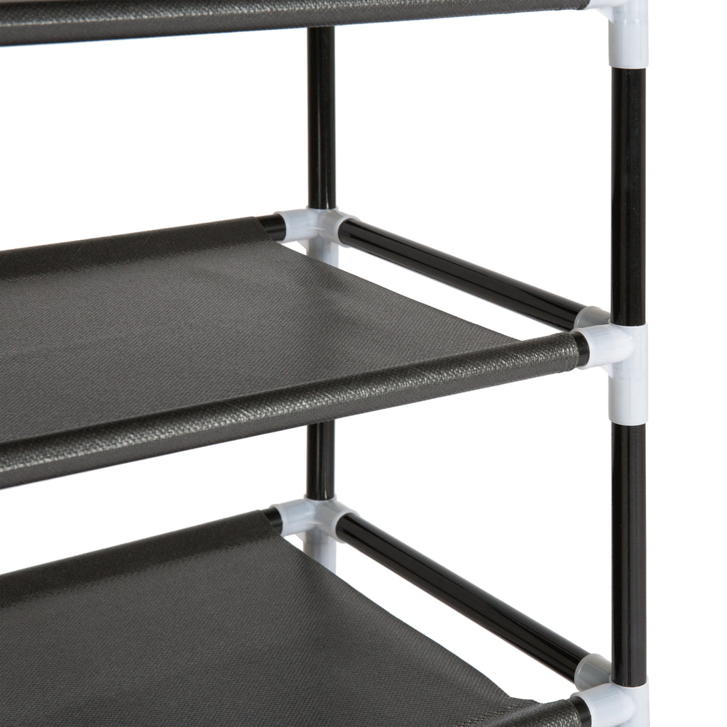 10 Tiers Shoe Rack Tower Organizer (Black)