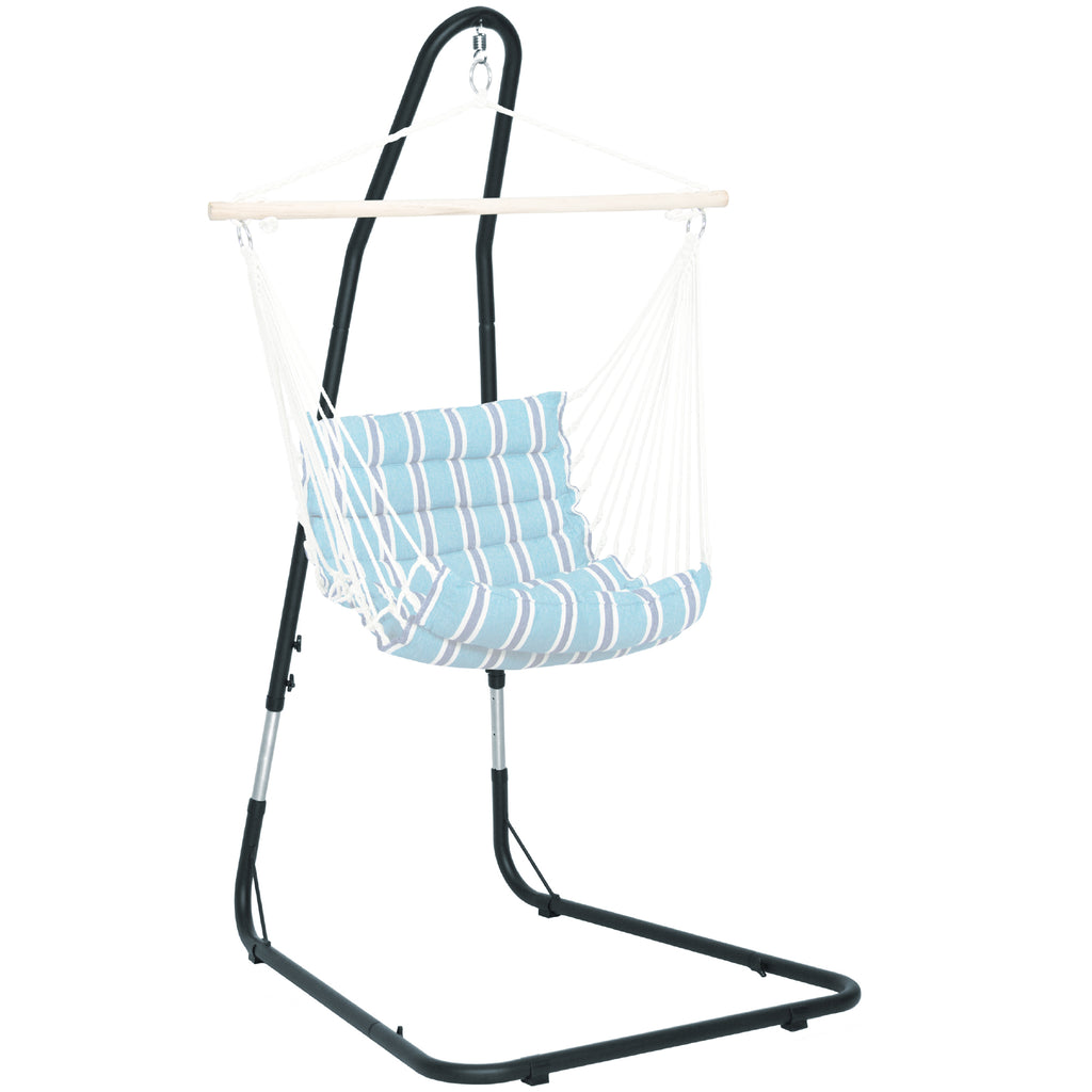 Adjustable Hammock Chair Stand - Black