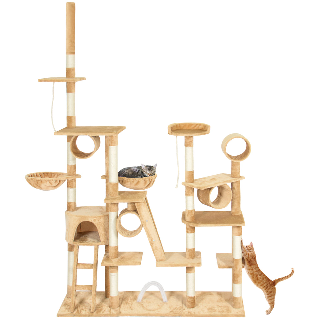 96in Multi-Level Cat Tree Scratcher Palace Post