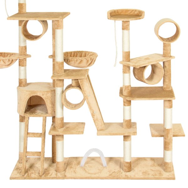 "Best Choice Products Pet Play Palace 96"" Cat Tree Scratcher Condo Furniture, Beige"