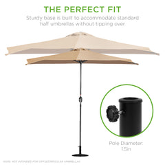 "Best Choice Products Patio 19"" Half Umbrella Base Stand"