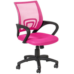 Rolling Swivel Computer Office Chair   Pink