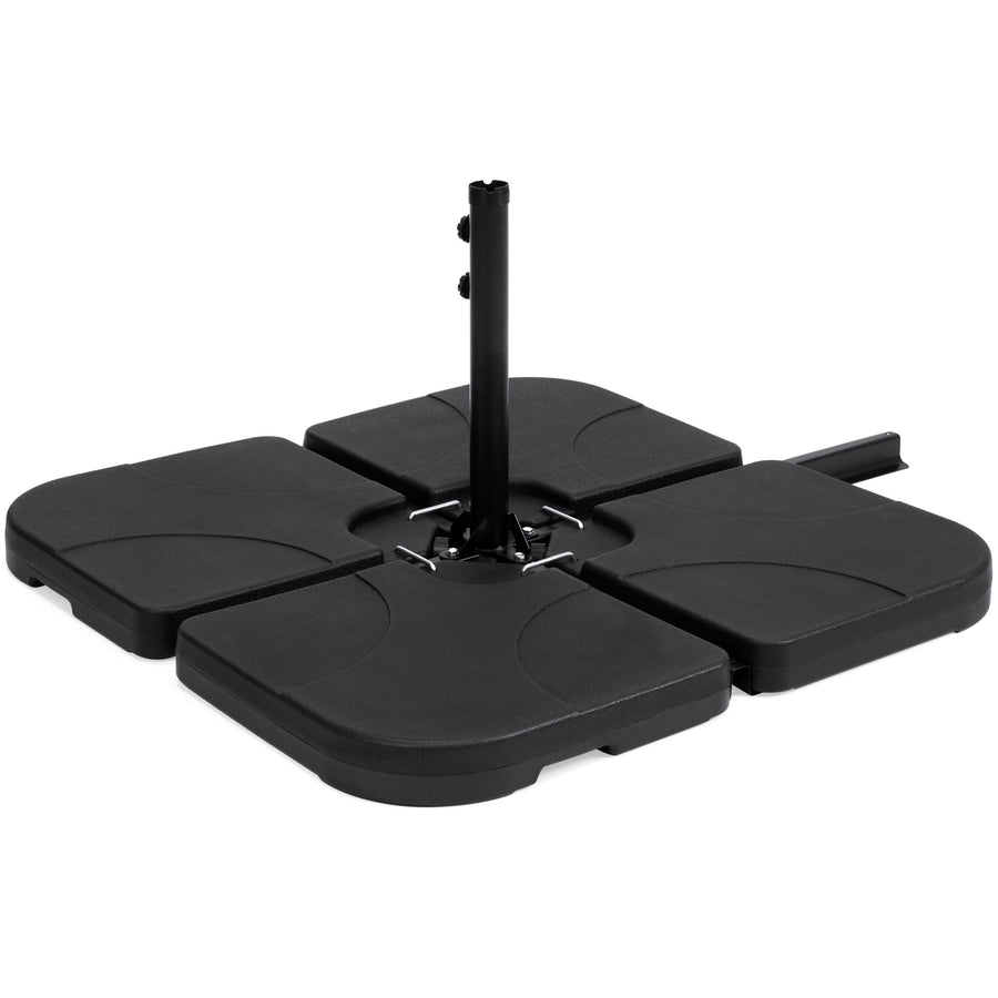 4-Piece Offset Umbrella Stand Base - Black