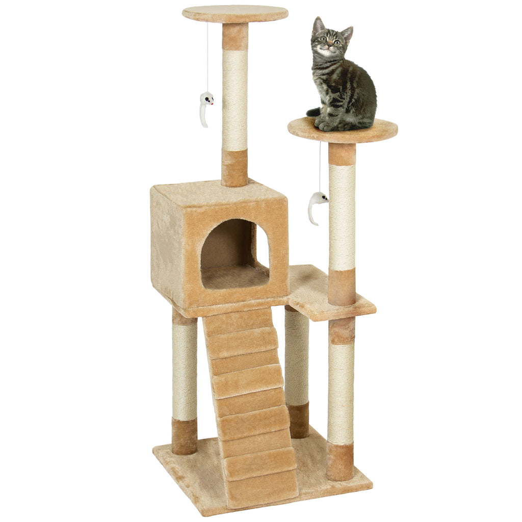 Best Choice Products Pet Play House 52\u0026quot; Cat Tree Scratcher Condo Furni