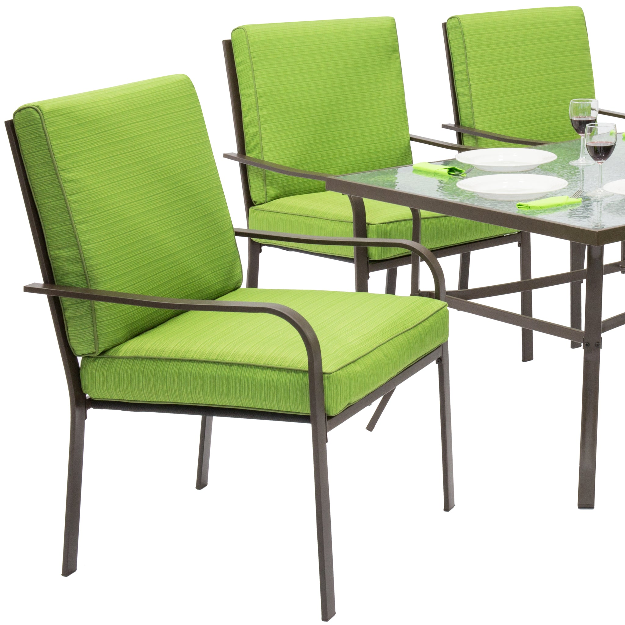 Best Choice Products Outdoor Patio Furniture 7 Piece Steel Dining Tabl