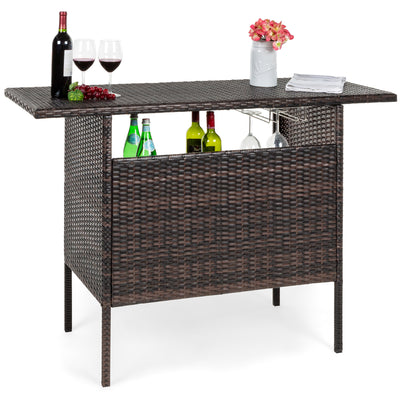 Wicker Counter Bar Table