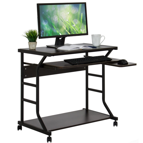 Best choice products home office 2 tier computer desk for Best workstation table