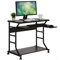 Best Choice Products Home Office 2-Tier Computer Desk Workstation W/ Locking Wheels