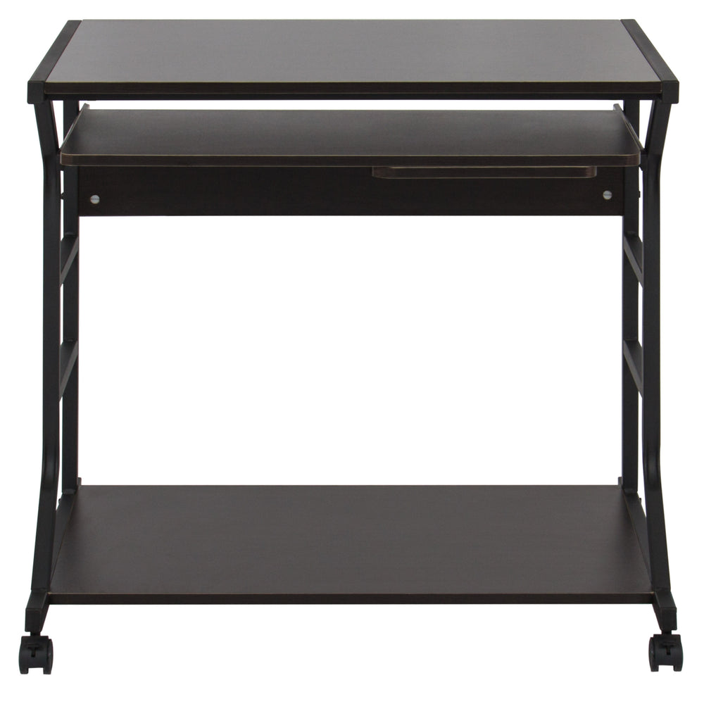 Delightful Best Choice Products Home Office 2 Tier Computer Desk Workstation W/  Locking Wheels