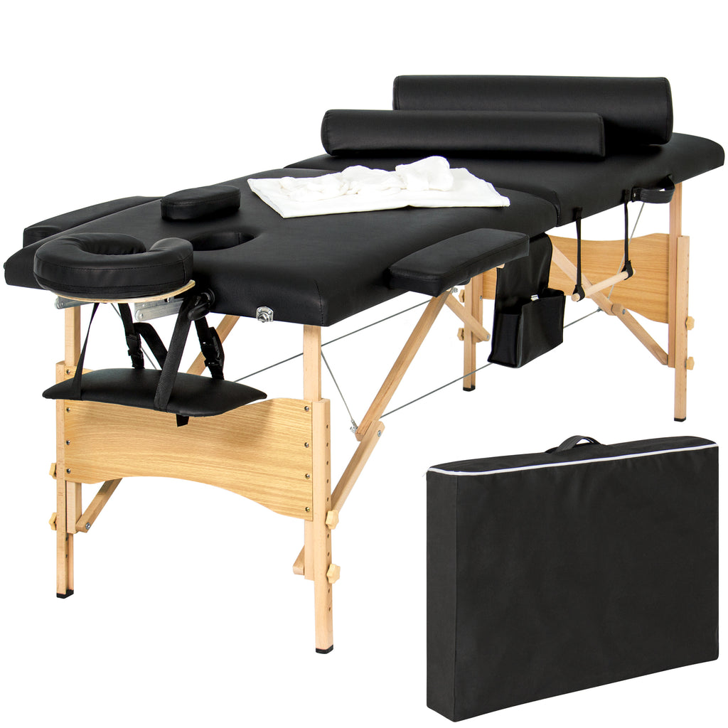 Best choice products portable 84 folding massage table for Foldable beauty table