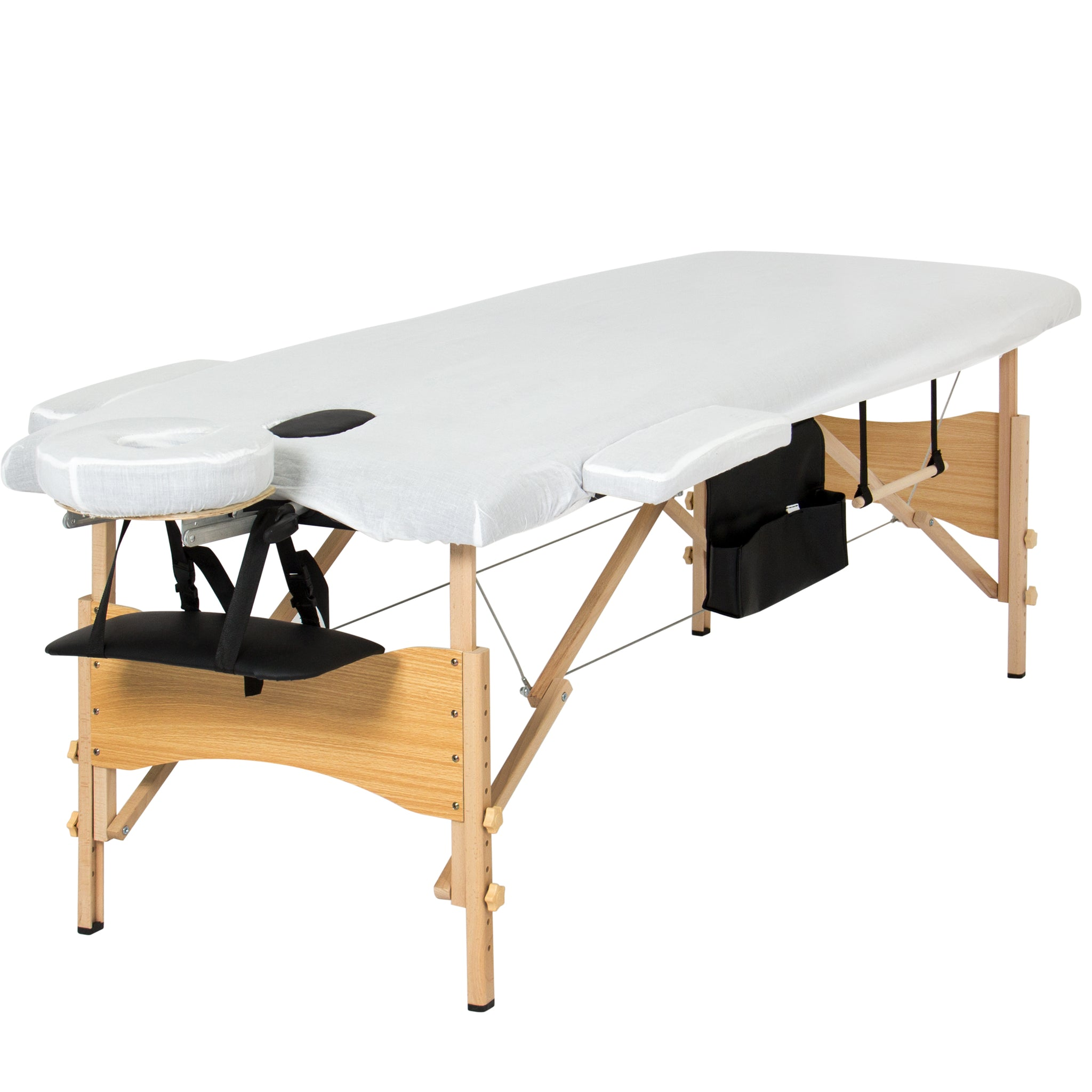 """Best Choice Products Portable 84"""" Tri Folding Massage Table Bed Set Wi"""