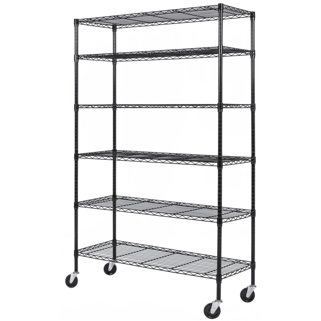 Best Choice Products Adjustable 6Tier Steel Shelving Rack Storage W\/