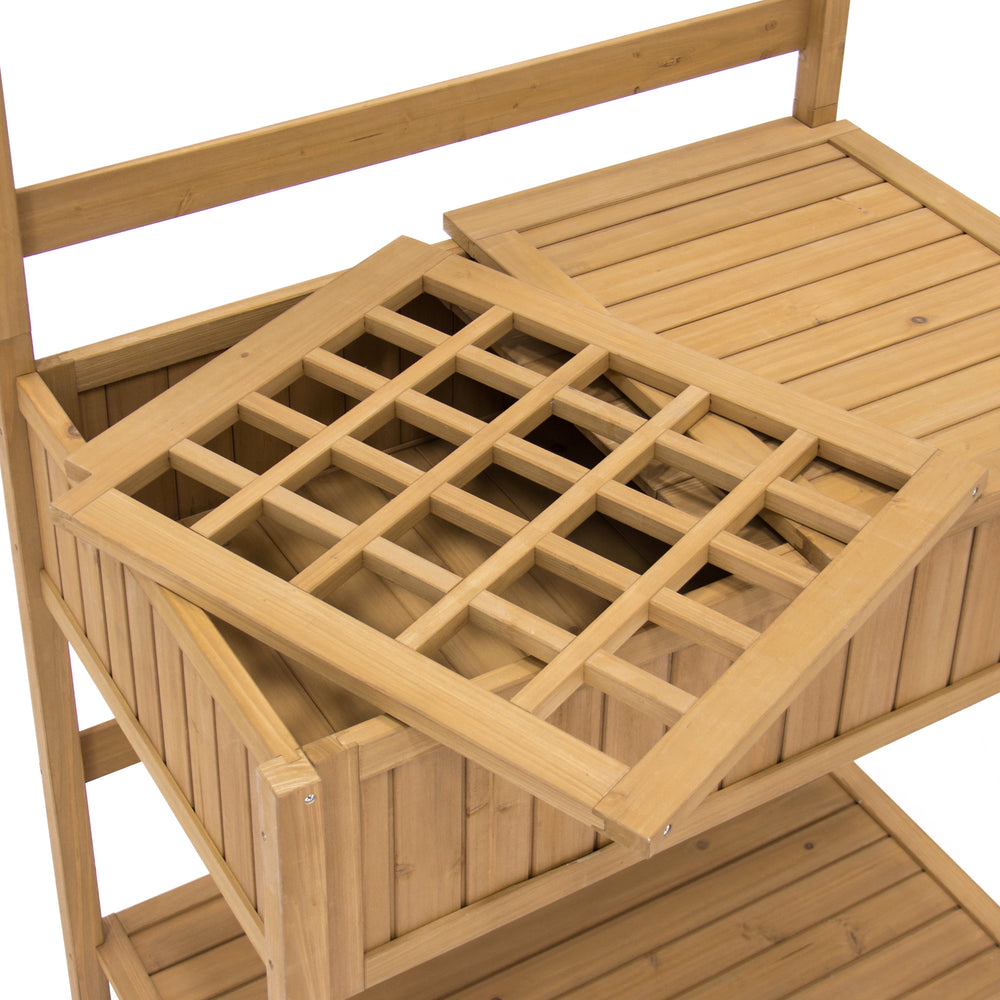 Garden Wooden Potting Bench - Natural – Best Choice Products