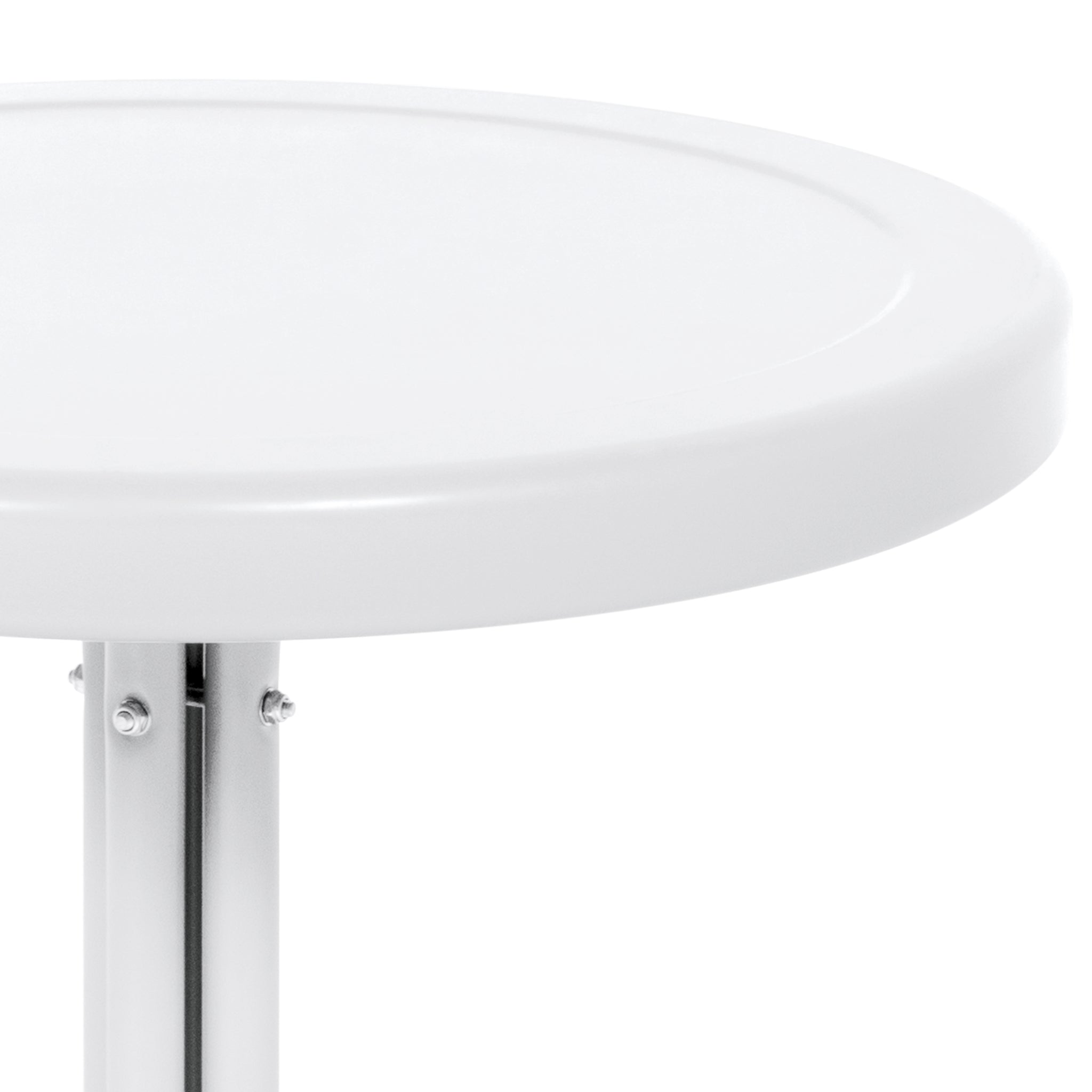 Best choice products patio outdoor metal round side table for White patio table