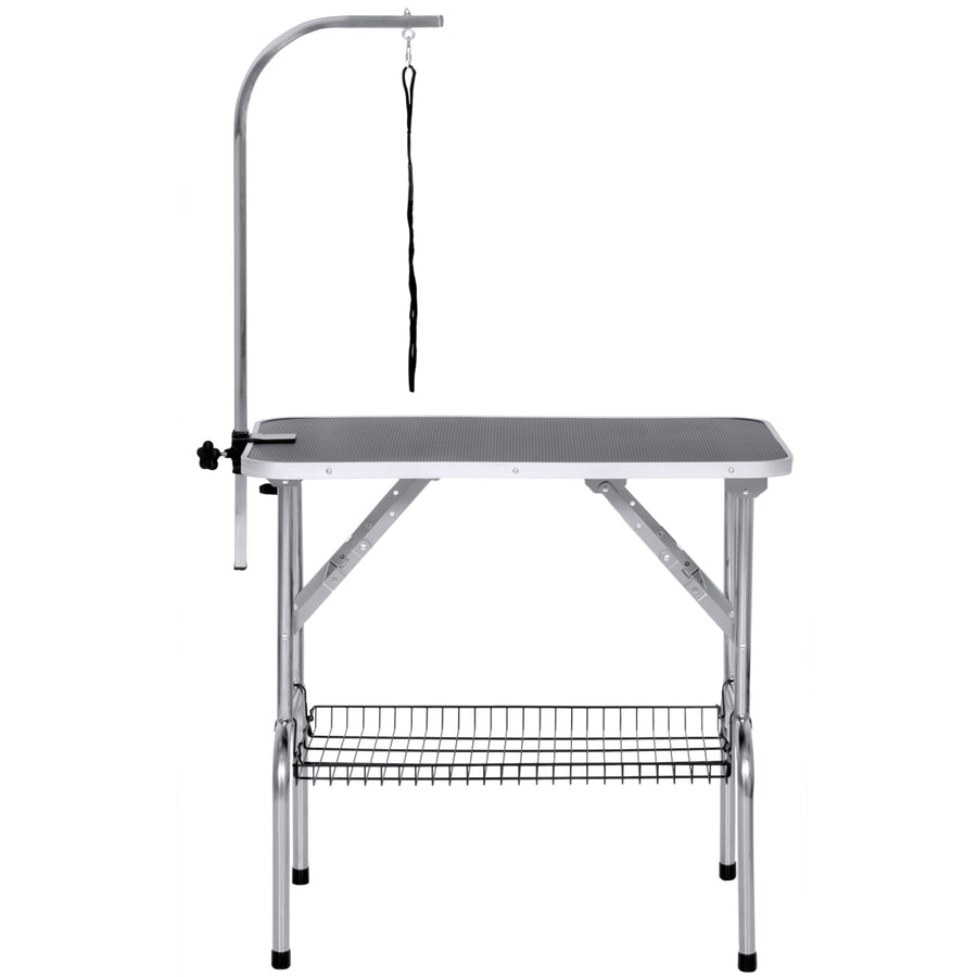 "Best Choice Products 21"" x 35"" Pet Supplies Cat Dog Folding Grooming Table W/ Clamp-On Adjustable Arm"