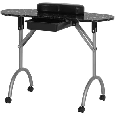 Best Choice Products Spa Salon Equipment Portable Manicure Nail Table Station W/ Carrying Bag