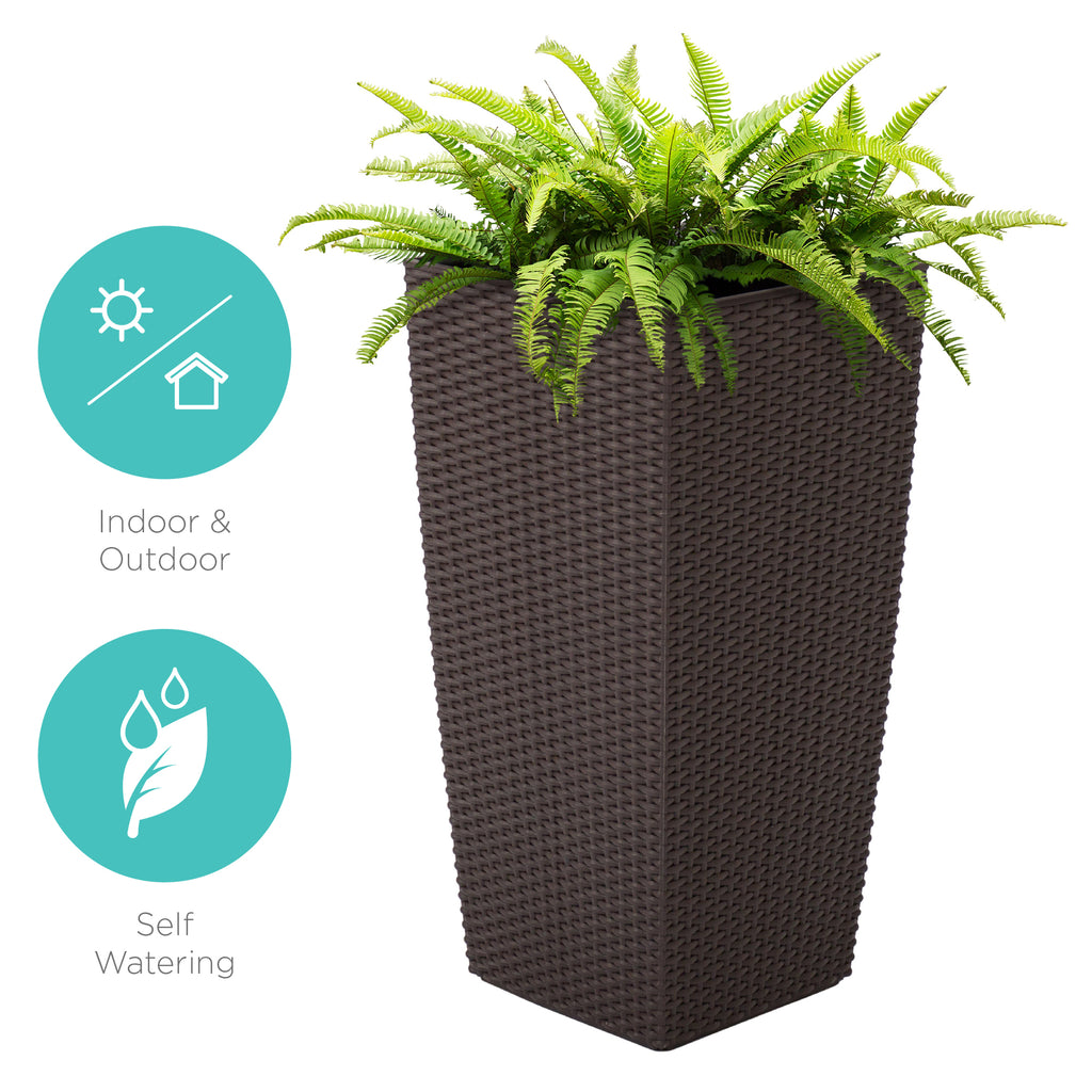 Best Choice Products Self Watering Garden Patio Wicker