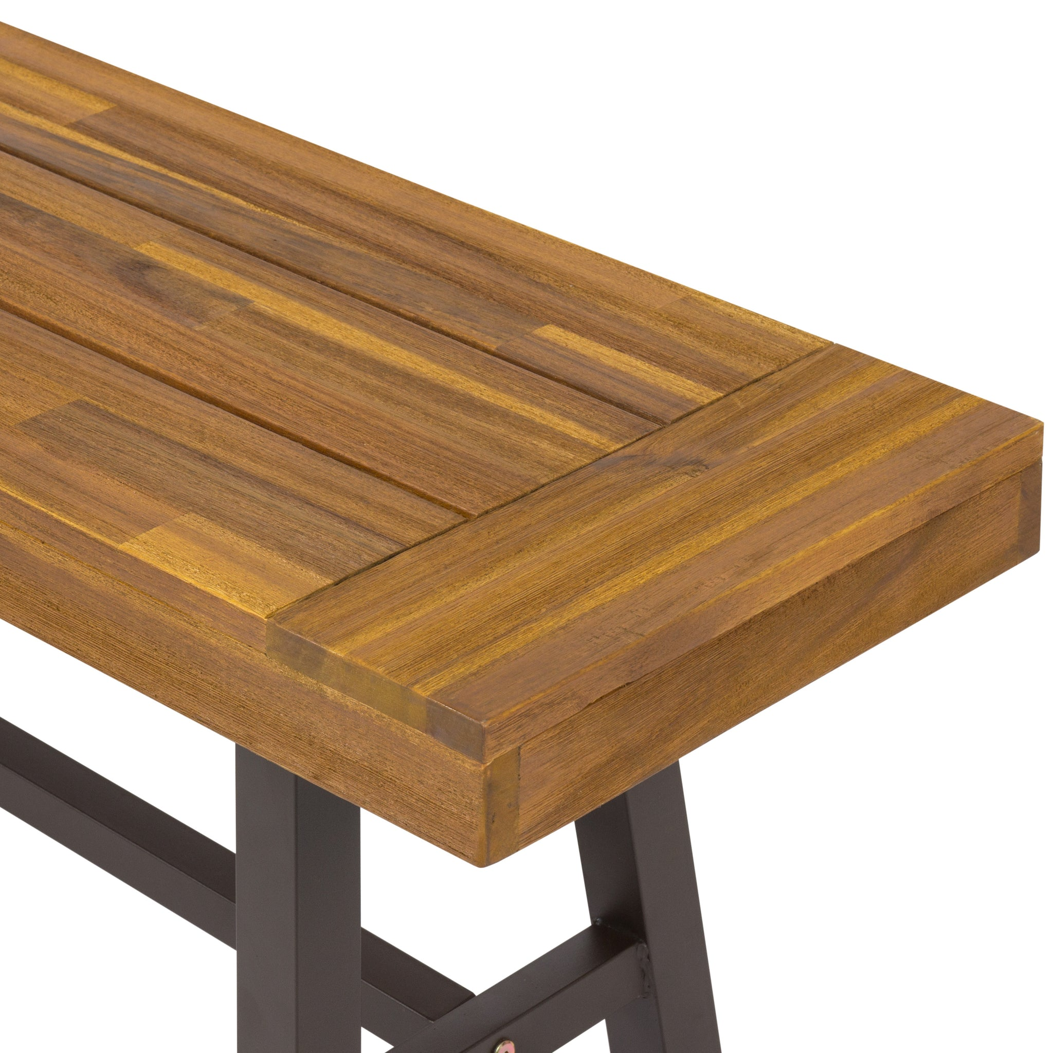 3 Piece Acacia Wood Picnic Dining Table – Best Choice Products