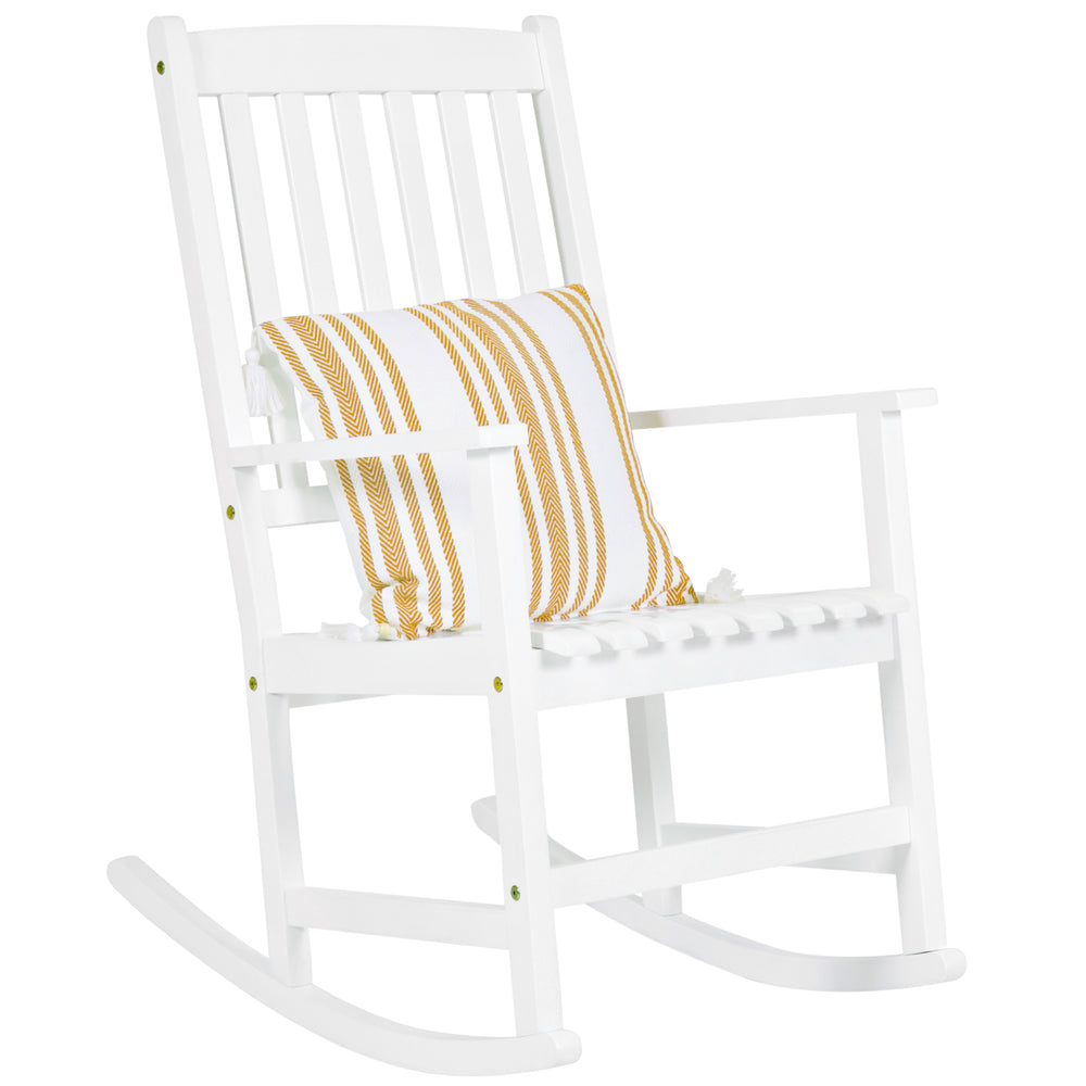 Best Choice Products Outdoor Indoor Wood Rocking Chair Patio Porch Rocker    White