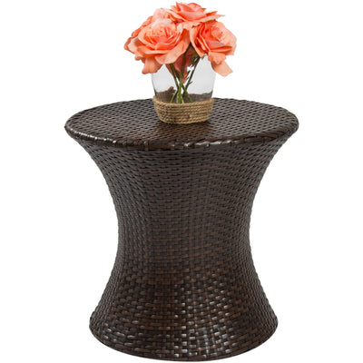 Wicker Hourglass Side Table