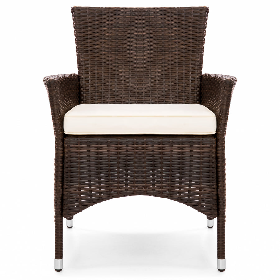 Set of 2 Patio Wicker Dining Chairs