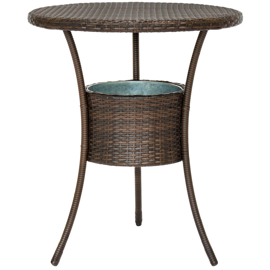 5-Piece Wicker Bar Bistro Set w/ Ice Bucket