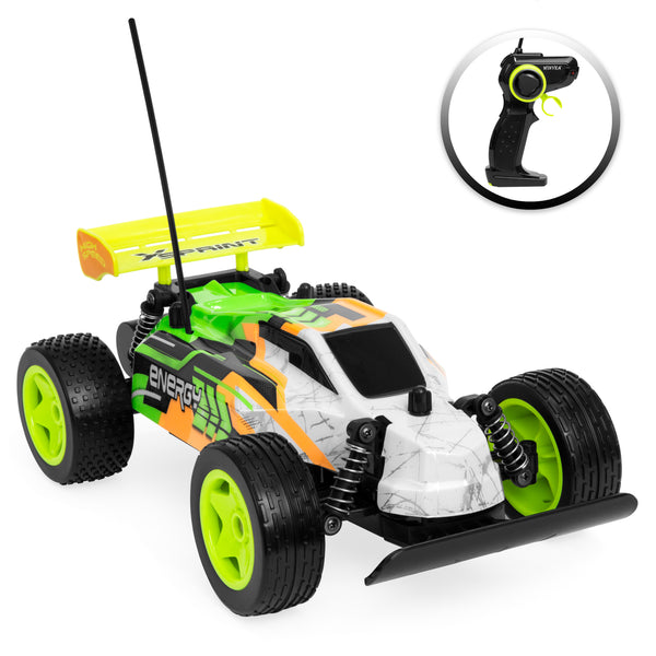 1/16 27Mhz High Speed RC Buggy Car w/ USB Charger - Yellow
