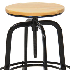 Best Choice Products Set of 2 Height Adjustable Swivel Wide Industrial Counter Stools