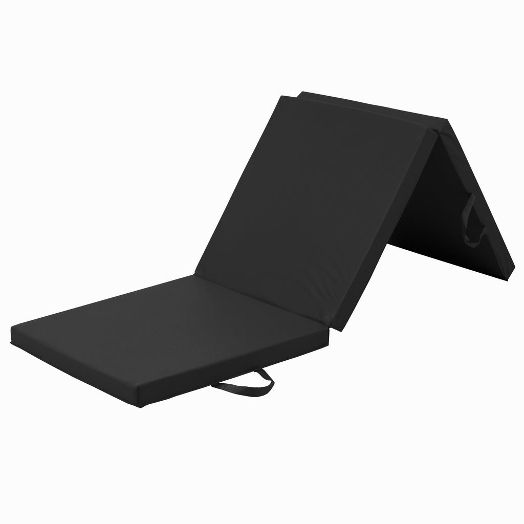 6x2ft Foam Tri-Fold Gym Exercise Floor Mat for Yoga, Aerobics, Pilates