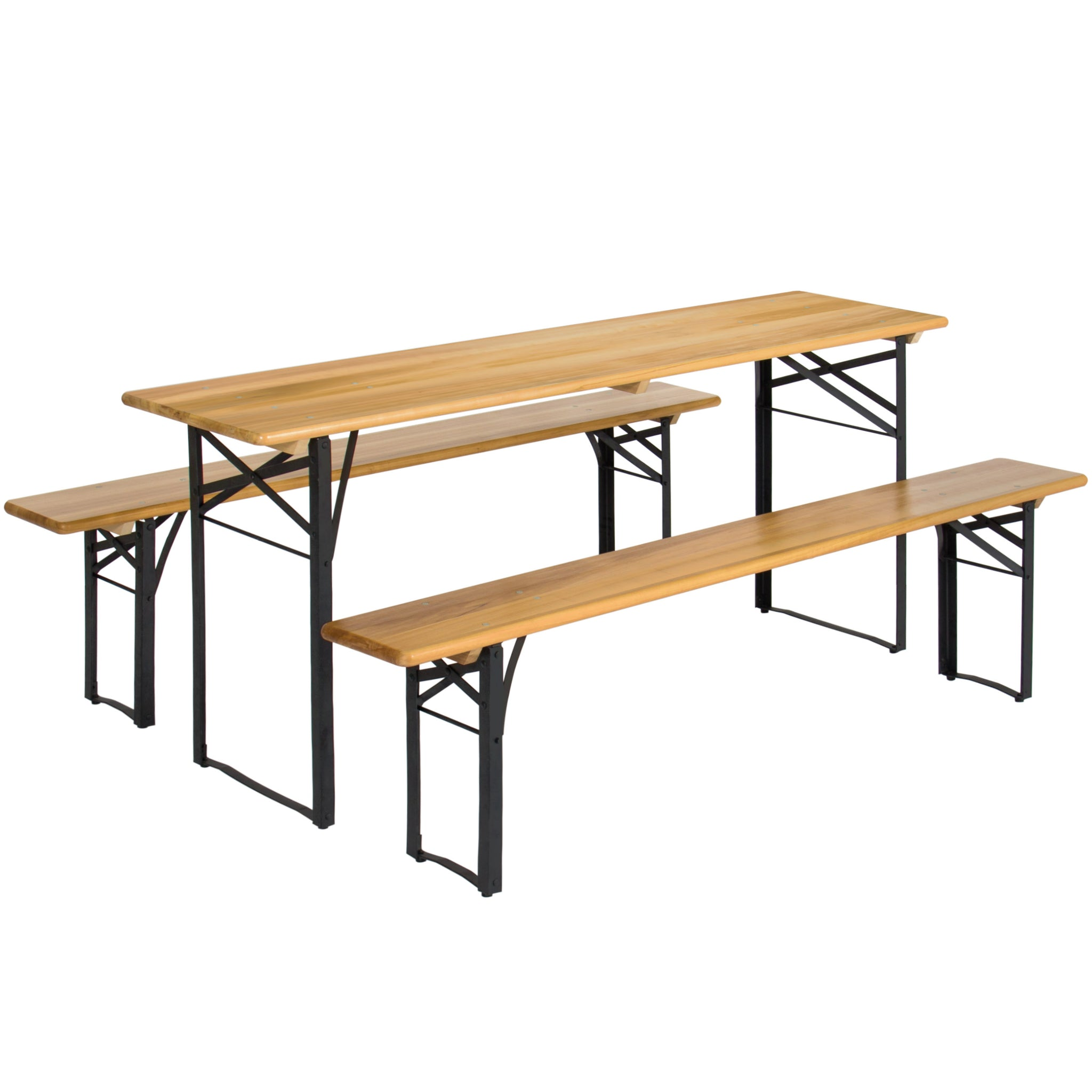 best choice products portable 3 piece folding picnic table set w wood