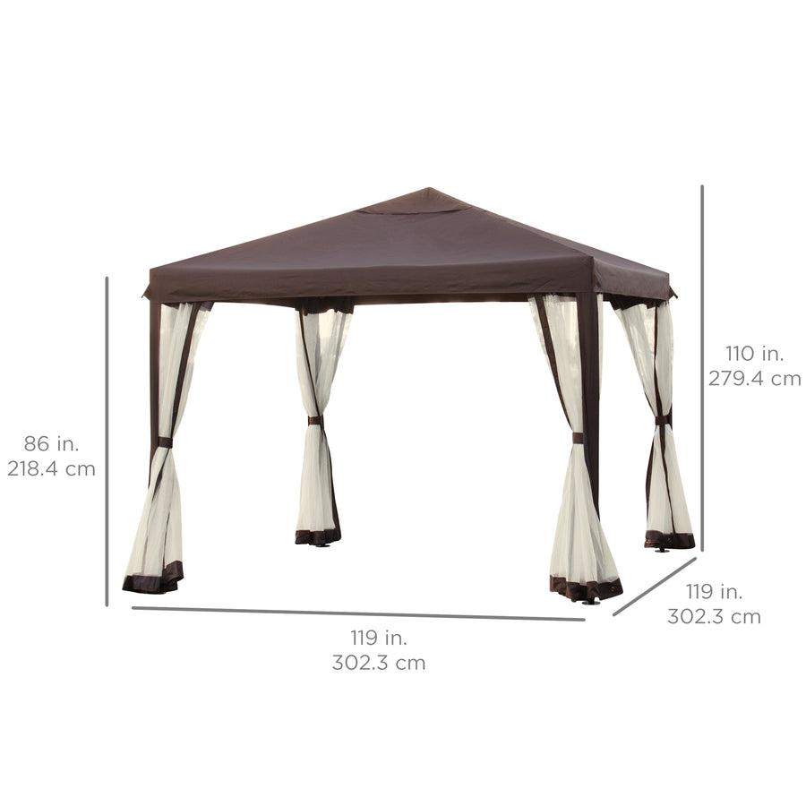 Best Choice Products Outdoor 10u0027 x 10u0027 Patio Garden Canopy Gazebo W/ Fully  sc 1 st  Best Choice Products : garden tent canopy - memphite.com