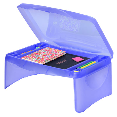 Best Choice Products Kids Folding Lap Desk W/ Storage- Blue