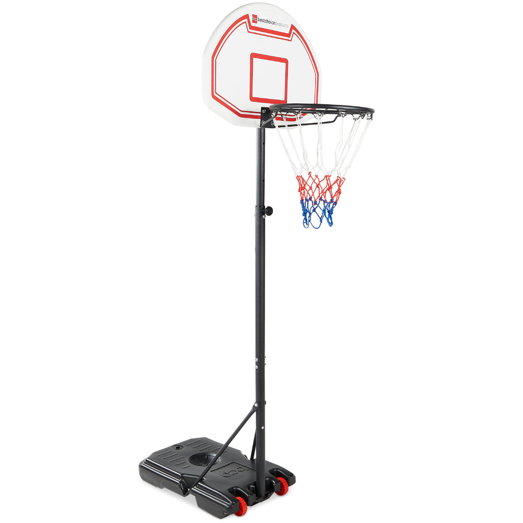 Kids Portable Height-Adjustable Basketball Hoop System Stand - Black